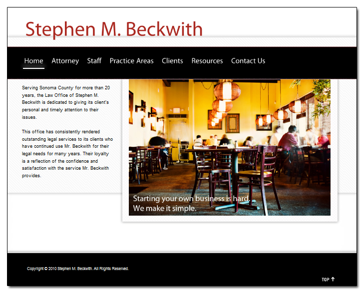 Stephen M. Beckwith Site